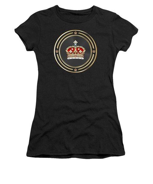 Crown Of Scotland Over Blue Velvet Women's T-Shirt (Athletic Fit)