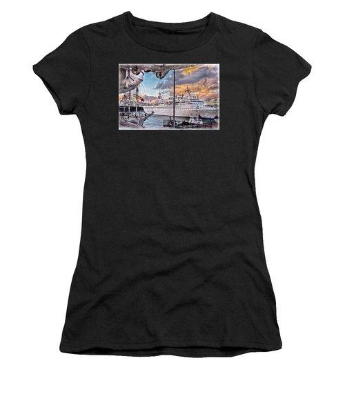 Cruise Port - Light Women's T-Shirt (Athletic Fit)