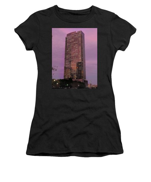 Crystal Skyscraper Sunset Women's T-Shirt
