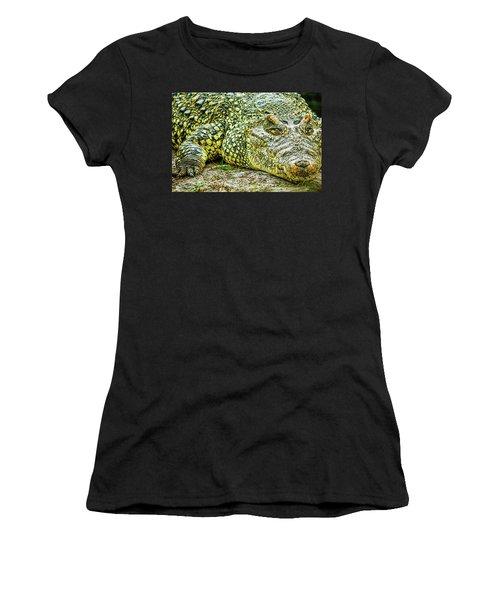 Cuban Croc Women's T-Shirt (Athletic Fit)