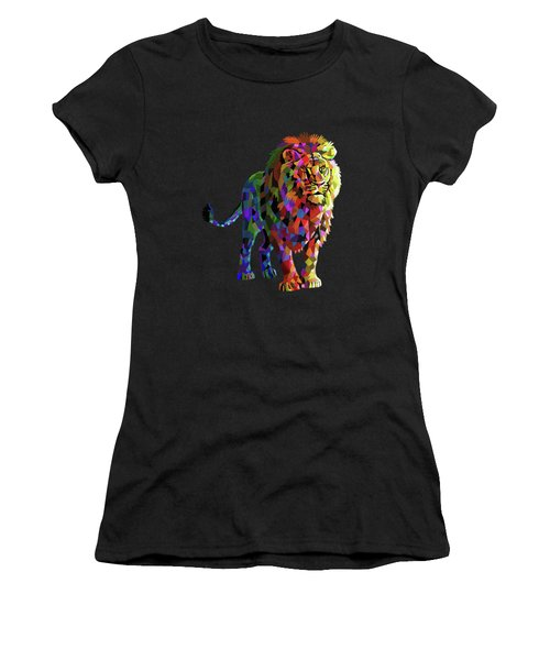 Geometrical Lion King Women's T-Shirt (Athletic Fit)