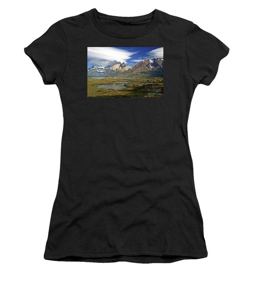 Cuernos Del Pain And Almirante Nieto In Patagonia Women's T-Shirt (Athletic Fit)