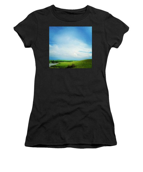 Cultivating Green And Blue Landscape Women's T-Shirt (Athletic Fit)