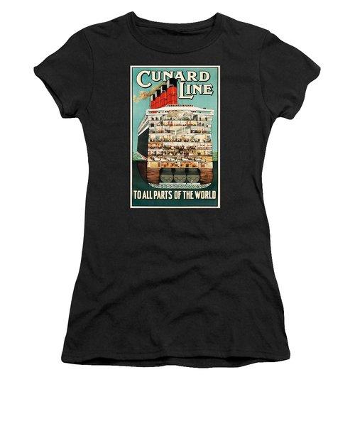 Cunard Liner Poster Women's T-Shirt