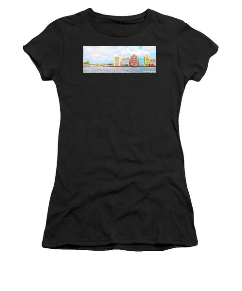 Curacao Awash Women's T-Shirt (Athletic Fit)
