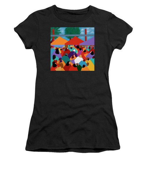 Curacao Market Women's T-Shirt (Athletic Fit)