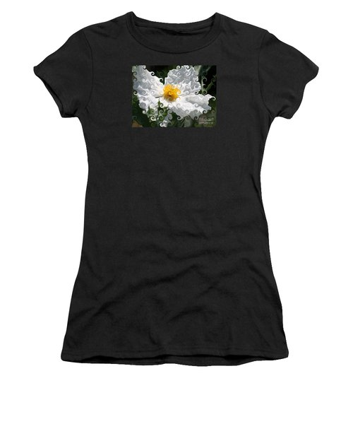Curlicue Fantasy Bloom Women's T-Shirt (Athletic Fit)