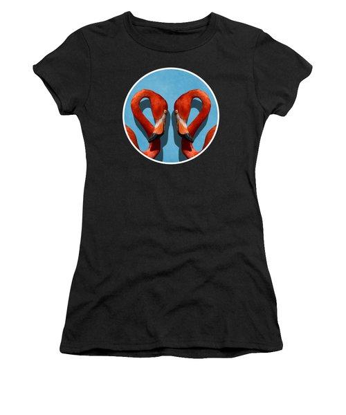Curves, A Head - A Flamingo Portrait Women's T-Shirt