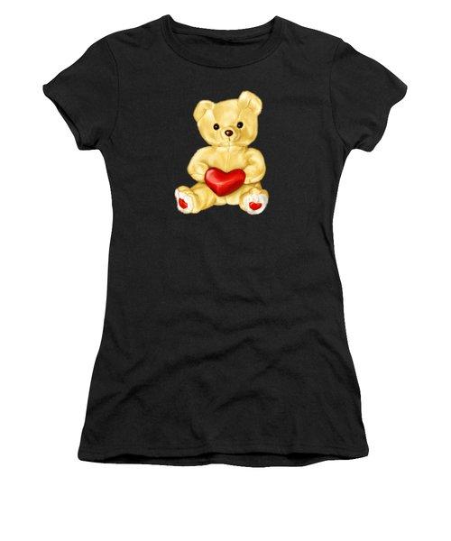 Cute Teddy Bear Hypnotist Women's T-Shirt (Athletic Fit)