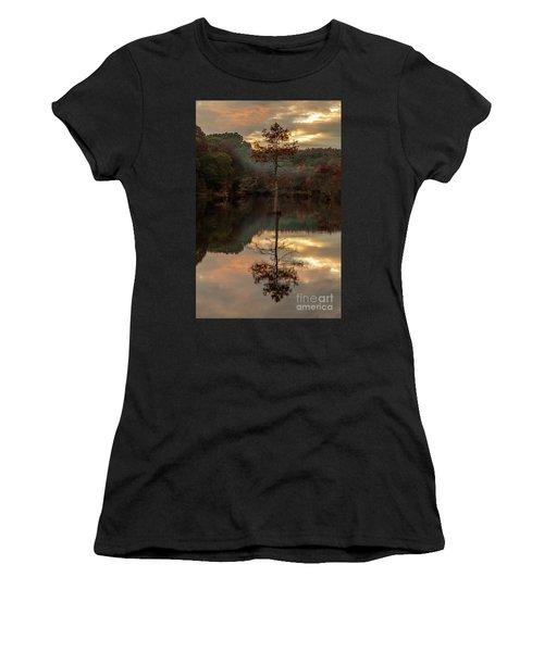 Cypress At Sunset Women's T-Shirt (Junior Cut) by Iris Greenwell