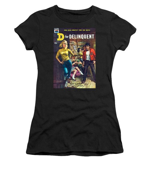 D For Delinquent Women's T-Shirt (Athletic Fit)