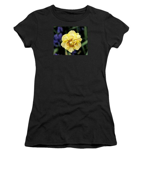 Women's T-Shirt (Junior Cut) featuring the photograph Daffodil Dallas Arboretum by Diana Mary Sharpton