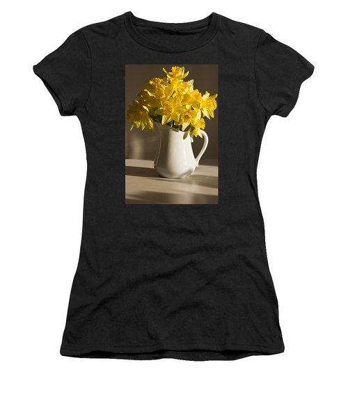 Daffodil Filled Jug Women's T-Shirt (Athletic Fit)