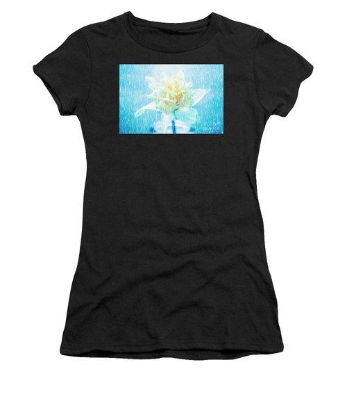 Daffodil Flower In Rain. Digital Art Women's T-Shirt