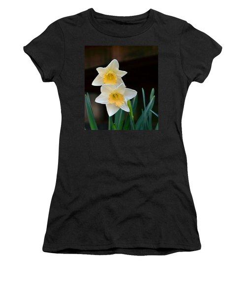 Daffodil Women's T-Shirt (Junior Cut) by Kathy Eickenberg