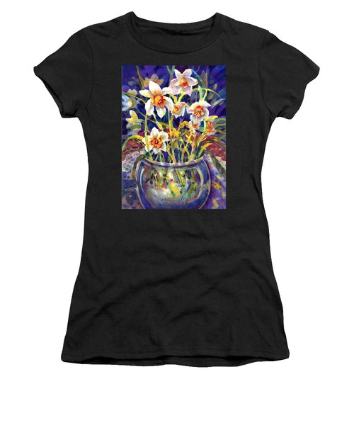 Daffodils And Lace Women's T-Shirt