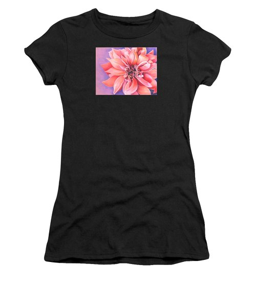 Women's T-Shirt featuring the drawing Dahlia 2 by Phyllis Howard