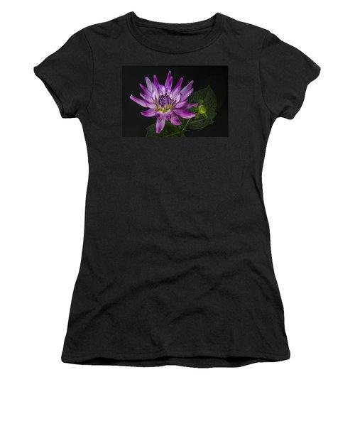Dahlia Glow Women's T-Shirt (Junior Cut) by Roman Kurywczak