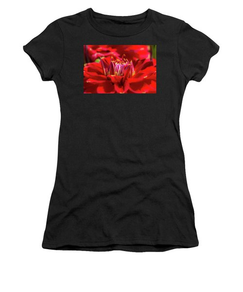 Dahlia Study 1 Painterly Women's T-Shirt (Athletic Fit)