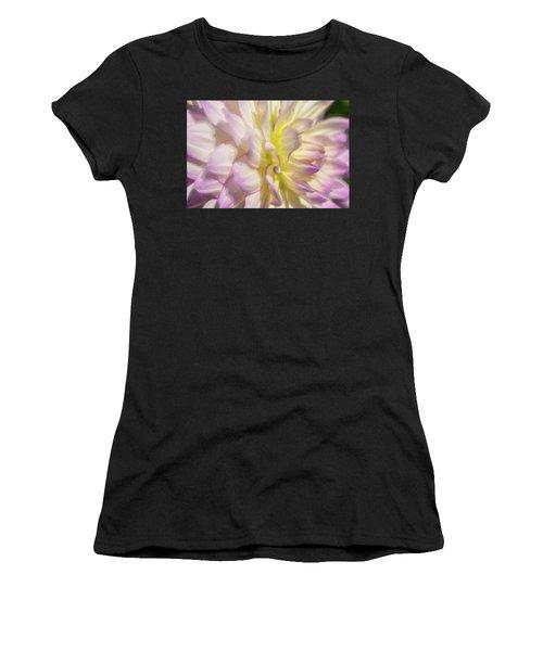Dahlia Study 5 Painterly  Women's T-Shirt (Athletic Fit)