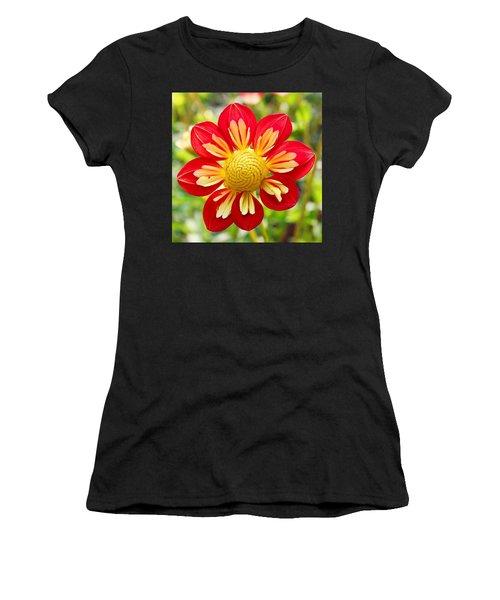 Dainty Dahlia Women's T-Shirt (Athletic Fit)