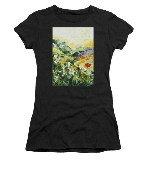 Daisies And Poppies Women's T-Shirt