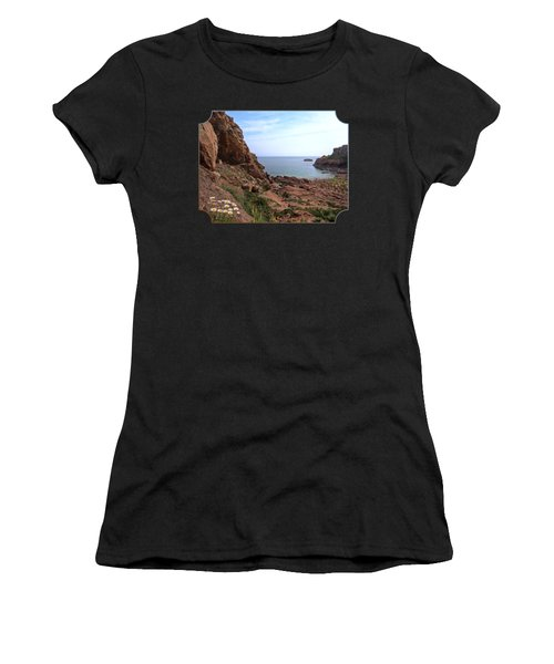 Daisies In The Granite Rocks At Corbiere Women's T-Shirt