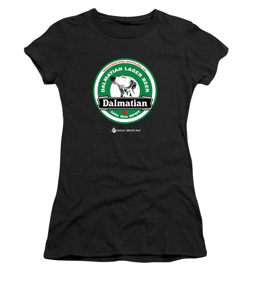 Dalmatian Lager Beer Women's T-Shirt (Athletic Fit)