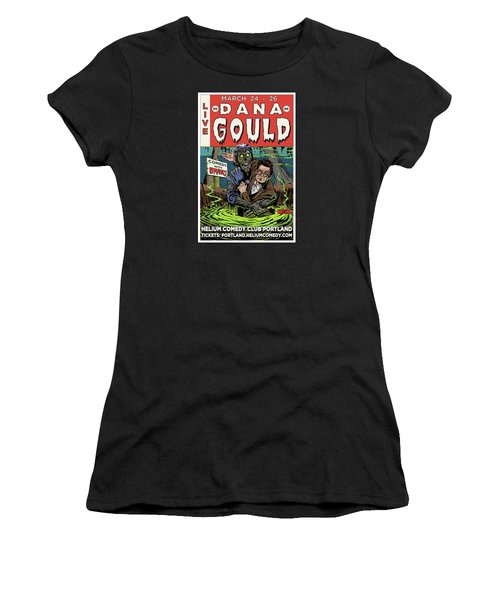 Dana Gould At The Helium Comedy Club Women's T-Shirt (Junior Cut) by Mark Tavares