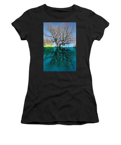 Dancers Tree Reflection  Women's T-Shirt