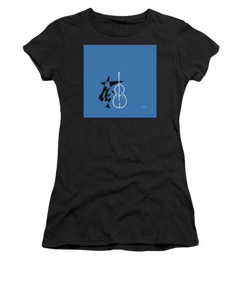 Dancing Bass In Blue Women's T-Shirt (Athletic Fit)