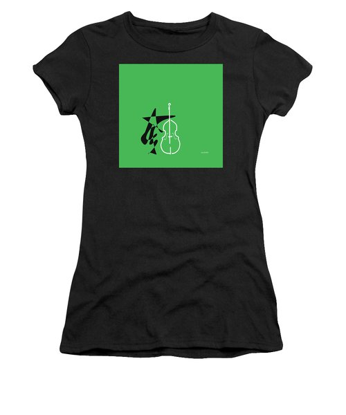 Dancing Bass In Green Women's T-Shirt (Athletic Fit)