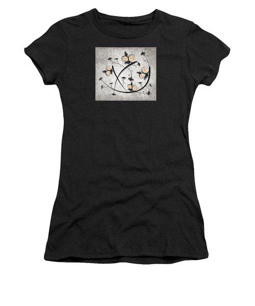 Dancing Flowers Women's T-Shirt (Athletic Fit)