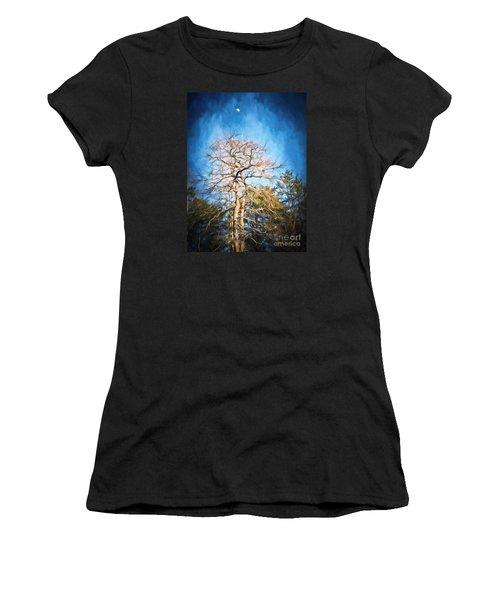Dancing Under The Moon Women's T-Shirt (Junior Cut) by Kerri Farley