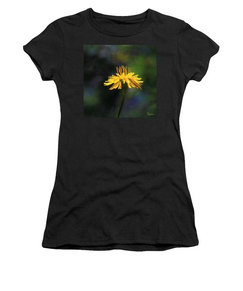 Women's T-Shirt featuring the photograph Dandelion Dance by Rasma Bertz