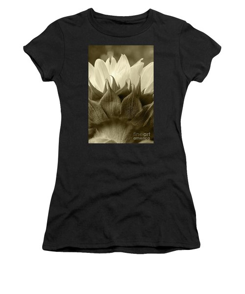 Dandelion In Sepia Women's T-Shirt (Athletic Fit)