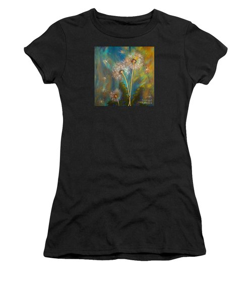 Dandelion Wishes Women's T-Shirt (Junior Cut) by Deborha Kerr