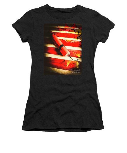 Danger Bomb Background Women's T-Shirt