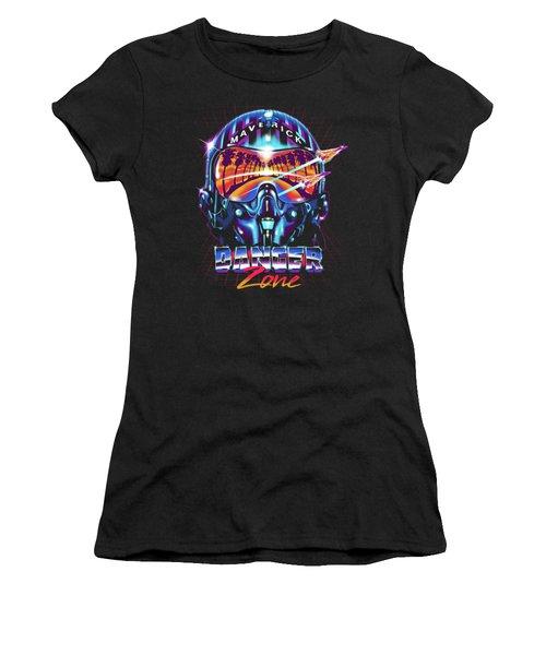 Danger Zone / Top Gun / Maverick / Pilot Helmet / Pop Culture / 1980s Movie / 80s Women's T-Shirt (Athletic Fit)