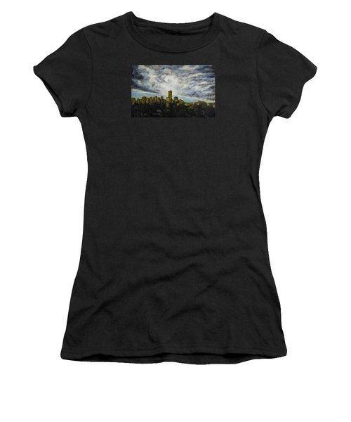 Dark Clouds Approaching 2 Women's T-Shirt (Athletic Fit)