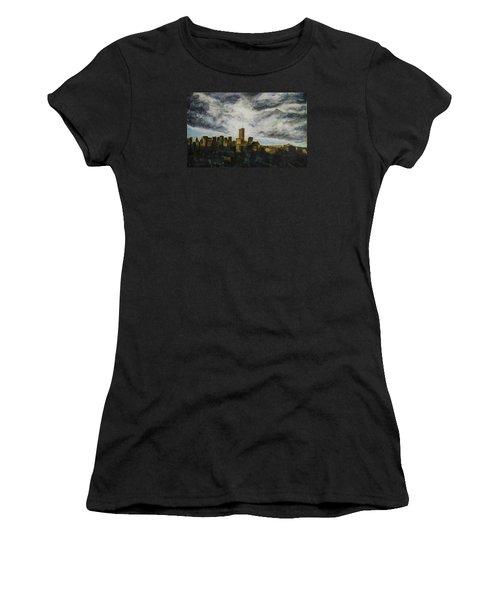 Dark Clouds Approaching Women's T-Shirt (Junior Cut) by Ron Richard Baviello