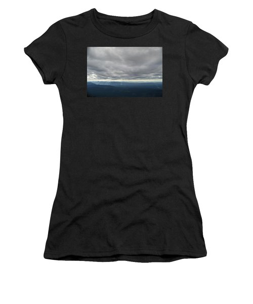 Dark Mountains Women's T-Shirt (Athletic Fit)