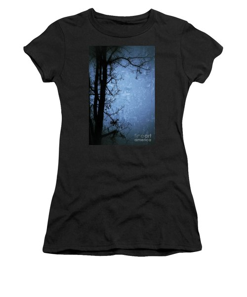 Dark Tree Silhouette  Women's T-Shirt (Junior Cut) by Jason Nicholas