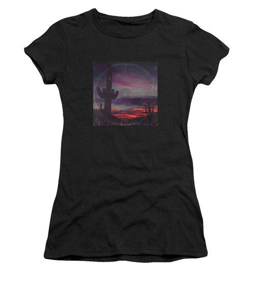 Darkness In The Desert - America As Vintage Album Art Women's T-Shirt