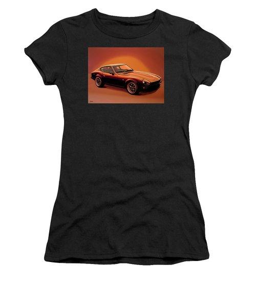 Datsun 240z 1970 Painting Women's T-Shirt (Junior Cut) by Paul Meijering