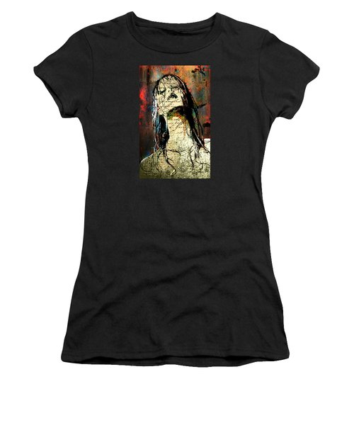 Daunted Damsel Women's T-Shirt (Junior Cut) by Greg Sharpe