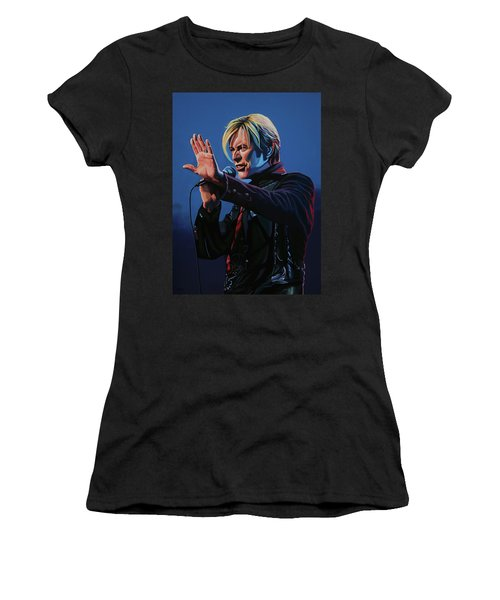 David Bowie Live Painting Women's T-Shirt