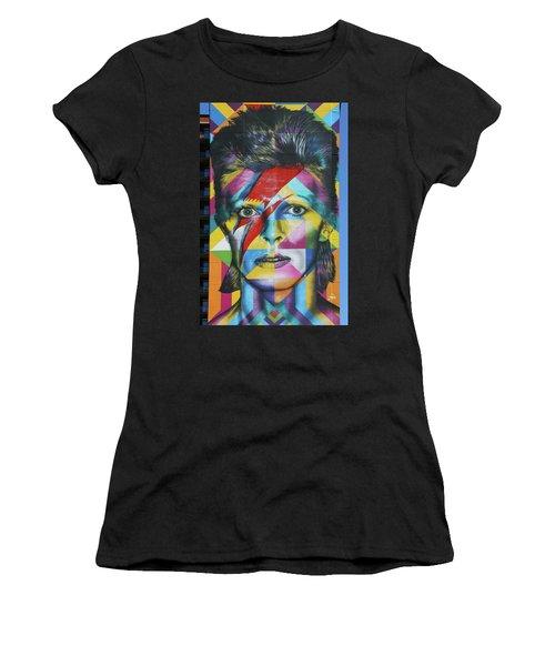 David Bowie Mural # 3 Women's T-Shirt
