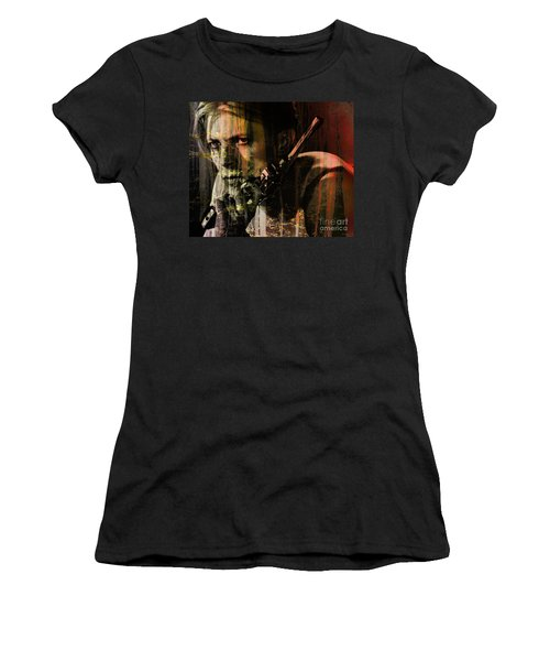 David Bowie / The Man Who Fell To Earth  Women's T-Shirt (Athletic Fit)