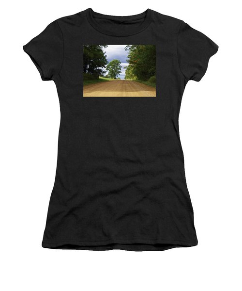 Davis Hill Rd. Women's T-Shirt (Athletic Fit)